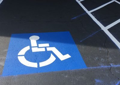 Handicap Pavement Painting