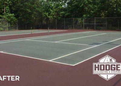 Tennis Court Repair After