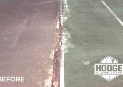 Tennis Court Cracks Before